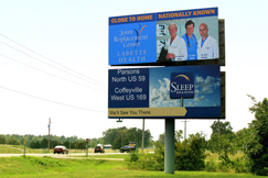 Identify with well-maintained billboards while on the go!